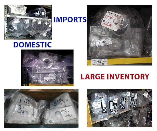 exchange cylinder heads-imports-domestic