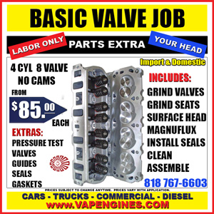 valve job for import and domestic autos