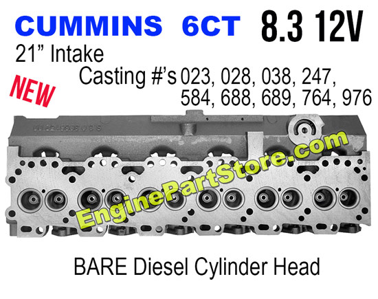 new cummins 6ct 8.3 12v cylinder head
