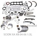 04-06 scion XA XB 1NZFE engine rebuild kit