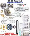 97-00 mazda b4000 4.0 V6 12v engine rebuild kit
