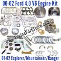 01-06 Mazda B4000 4.0 V6 12V Engine Rebuild Kit