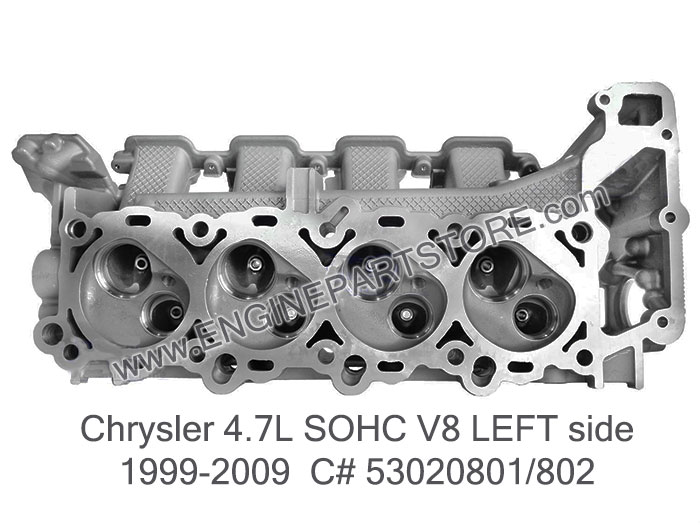 Dodge Cylinder Head 4.7 99-09 Chrysler Dodge Jeep 4.7