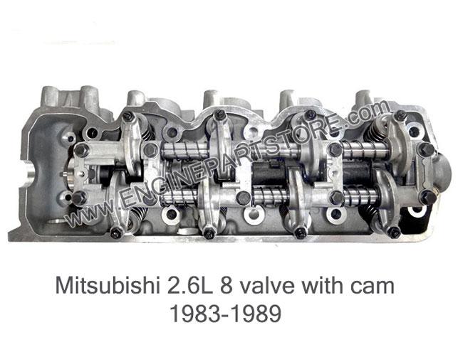 83-89 mitsubishi 2.6 8v 4g54 cylinder head w/valves and cam