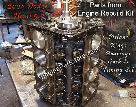 Dodge Hemi 5.7 Short Block Kit parts