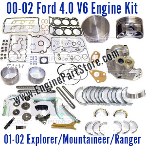 01-02 Ford 4.0 V6 engine rebuild kit
