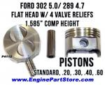 68-72 ford 302 5.0 pistons