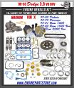 98-03 Dodge Dakota/1500/Durango 3.9 239 Magnum Engine rebuild Kit vin x