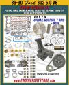 86-90 Ford 5.0 302 engine rebuild kit 1.608 deep dish piston