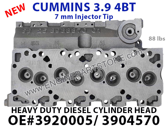 NEW CUMMINS 4BT 3 9L CYLINDER HEAD 005/570